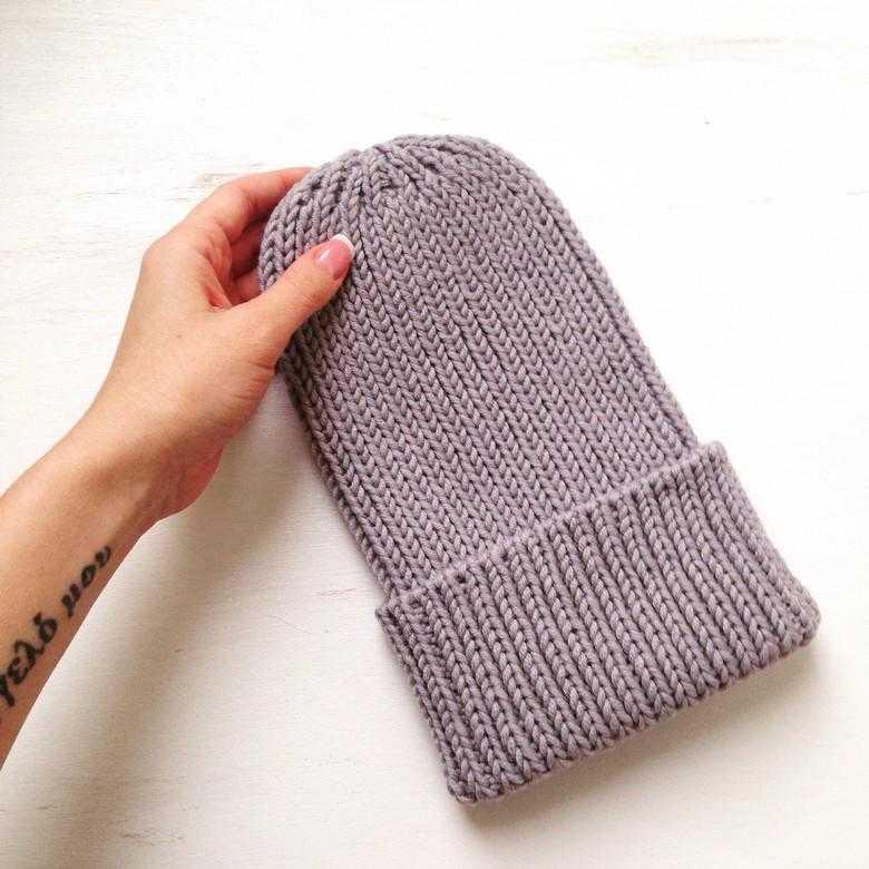 Базовая шапочка спицами