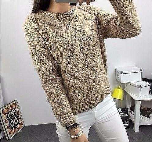 Красивый оригинальный узор для свитера