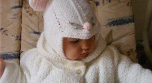 Детская шапочка-мышонок