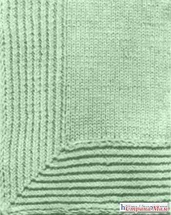 Вязание планки одновременно с полочкой