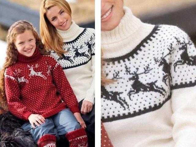 Классический свитер с оленями