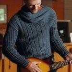 Мужской свитер с асимметрией