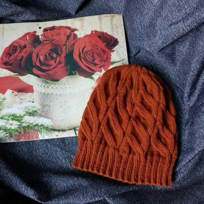 ложная коса вязание шапок