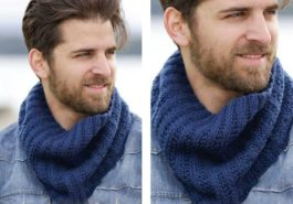 Мужской шарф-снуд