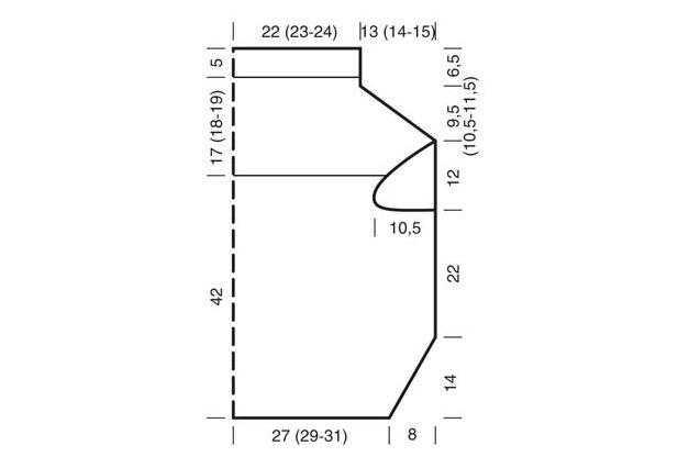 Простая модель безрукавки спицами