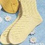 Носки с фигурным верхом
