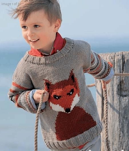 Детский джемпер с лисой