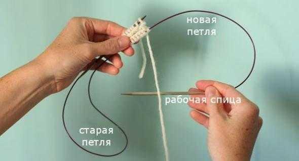 Как вязать на круговых спицах по кругу для начинающих