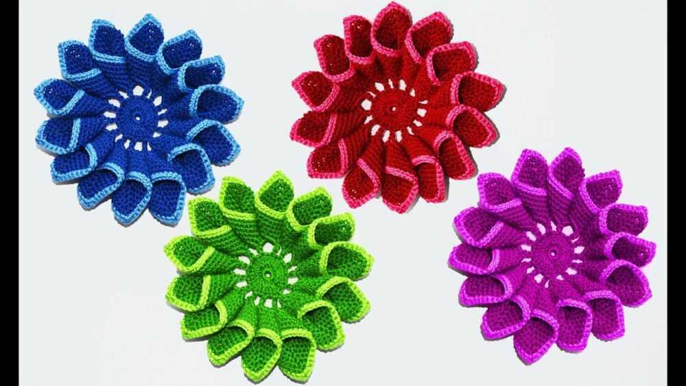 cvety krjuchkom 2 - Вязаные цветы крючком  схемы и описание