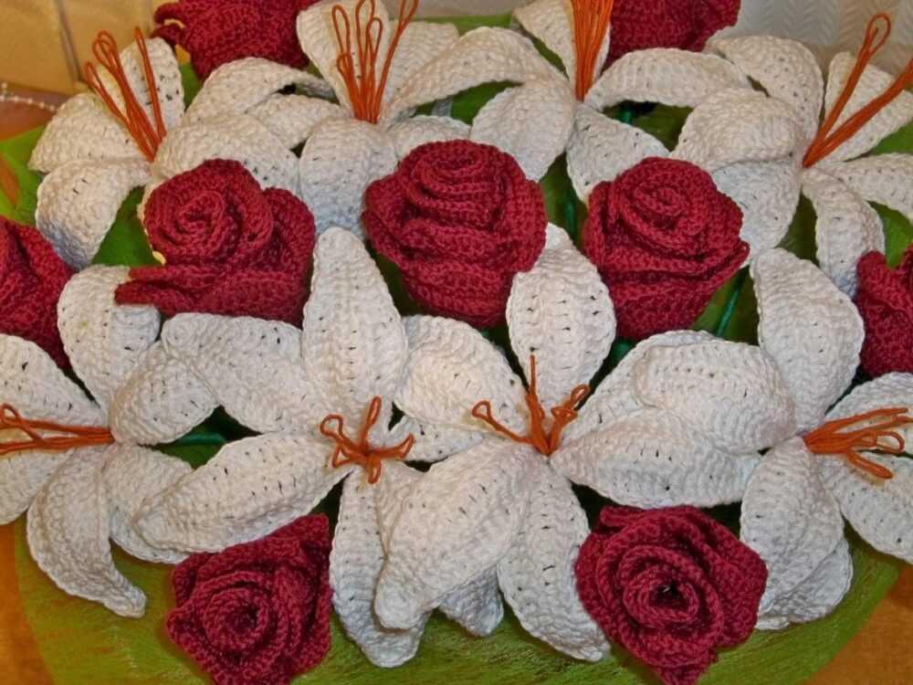 cvety krjuchkom 3 - Вязаные цветы крючком  схемы и описание