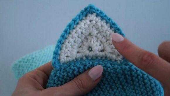 Вязанная повязка крючком