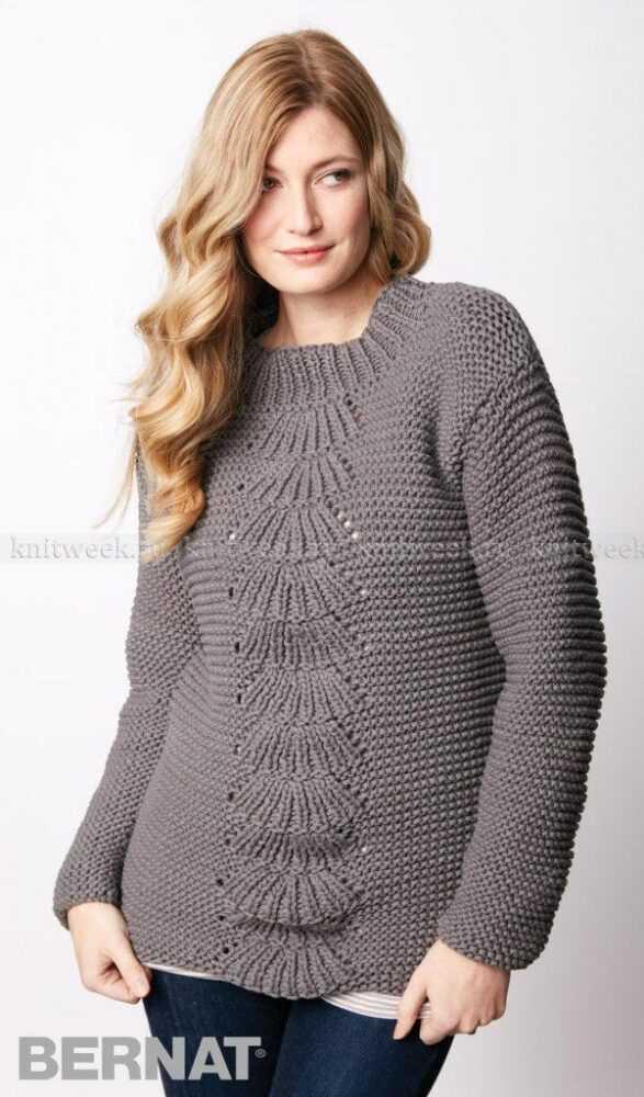 пуловер спицами женский описание