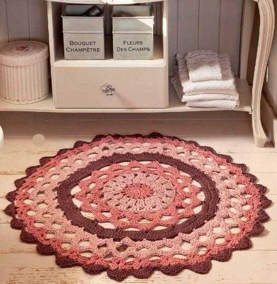 vjazhem krjuchkom kovriki na pol - Вязаные коврики крючком со схемами простые и красивые