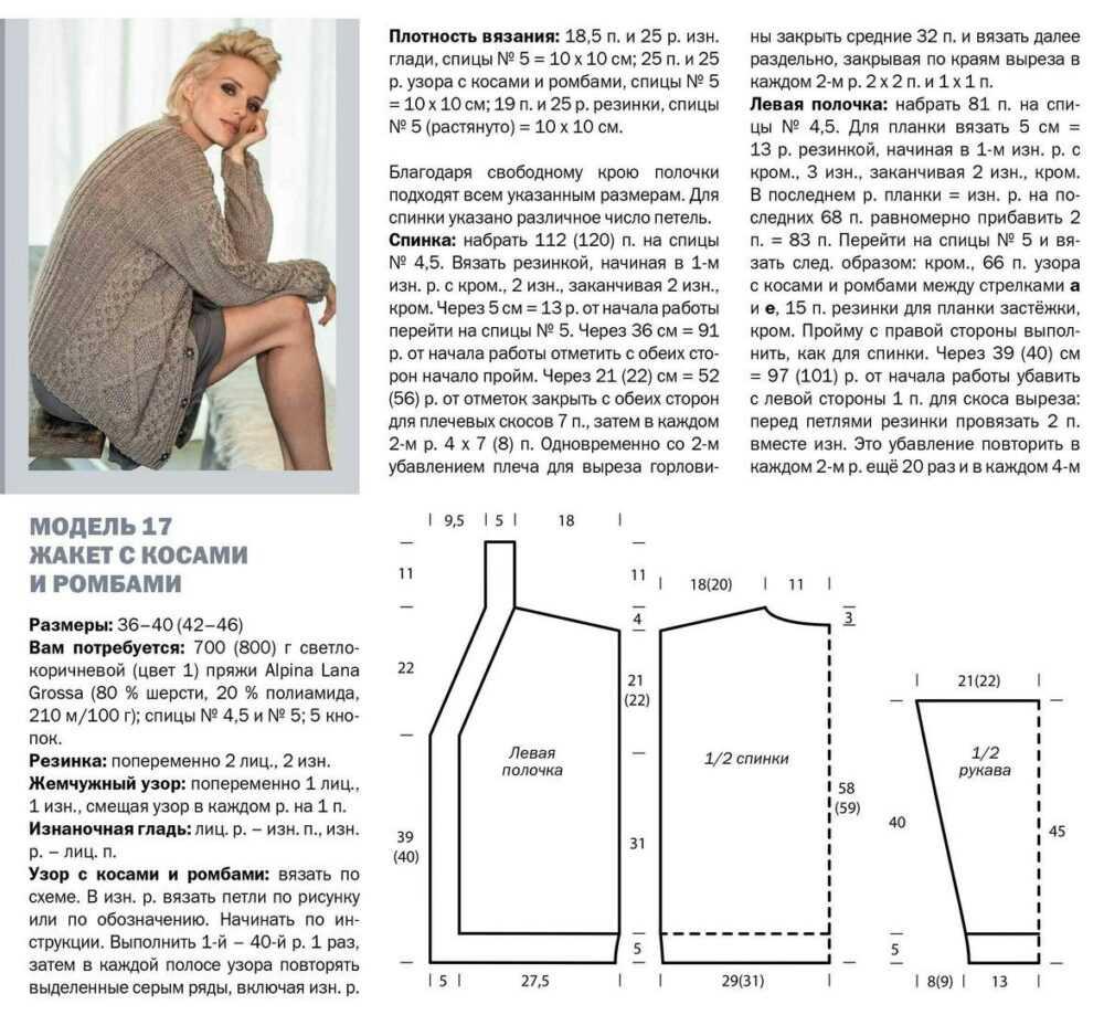 zhaket oversajz spicami 3 - Вязаный жакет оверсайз спицами для женщин