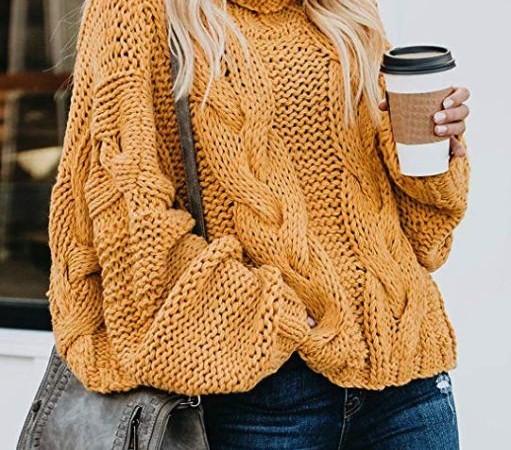 Модный свитер с косами оверсайз