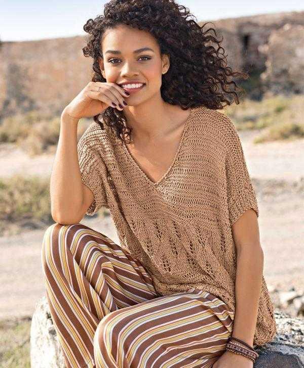 Как связать летний свободный пуловер