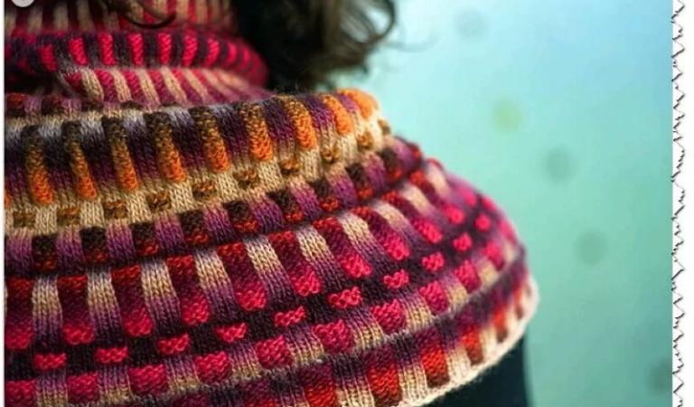 Вязание резинки 2х2 2 и тремя цветами