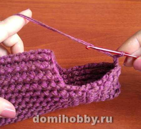 Как просто связать носки крючком