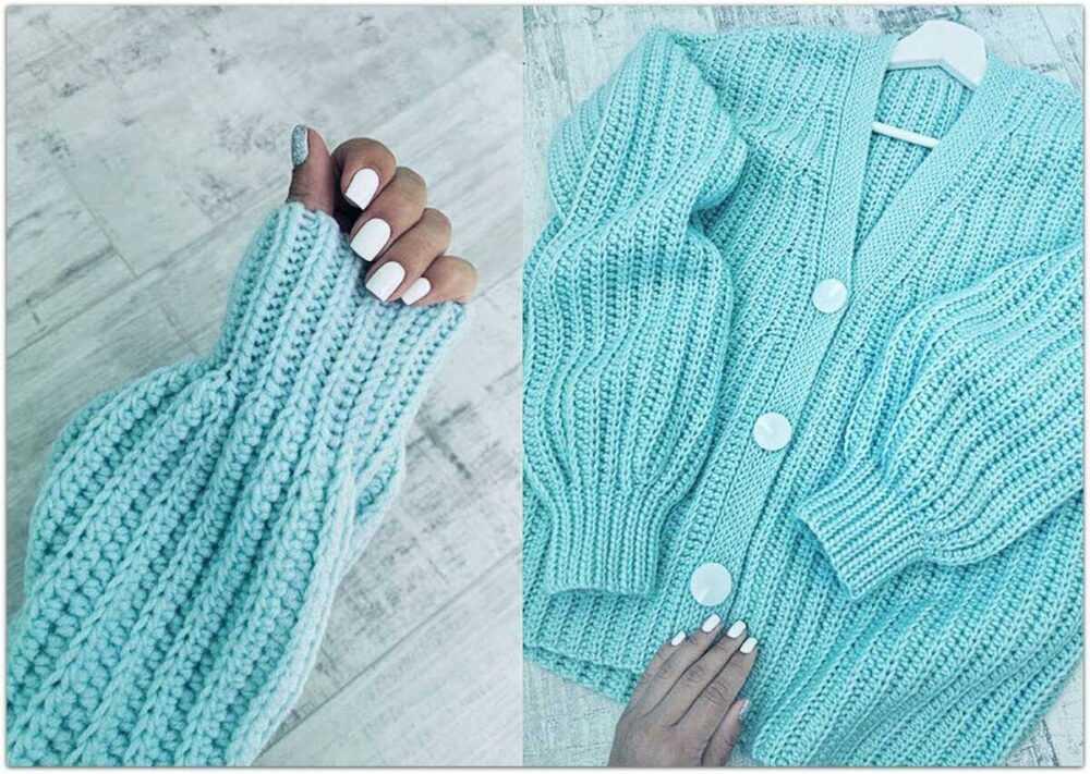 Кардиган №4. Инстаграм автора: @ld_knitting