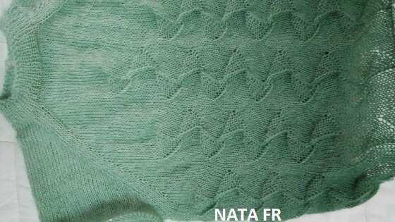 Переход цвета в другом свитере из этой пряжи. Личное фото