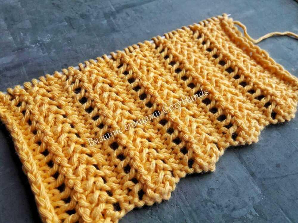 узор для вязания палантинов, шарфов, снудов, свитеров, кардиганов и т.д.