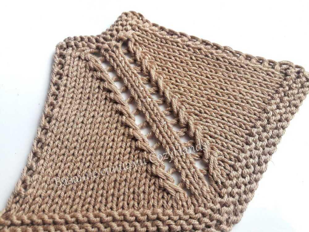 2 варианта вязания ажурной регланной линии