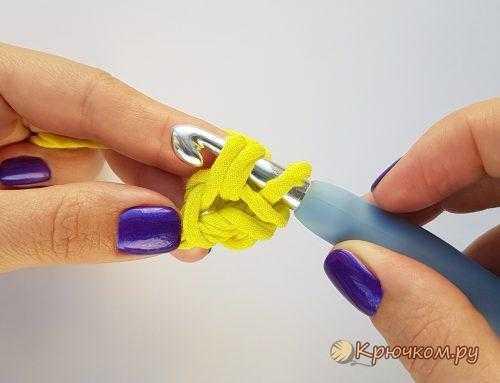 Шнур гусеничка (жемчужный) крючком. Описание