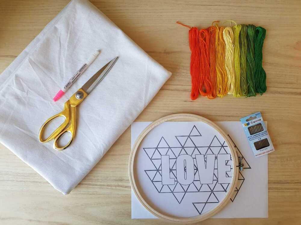 Материалы и инструменты для пошива шоппера