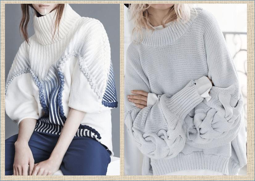 Все дело в рукаве - модные объемные рукава в вязаных моделях - посмотрим как и с чем носить такие трендовые вещи