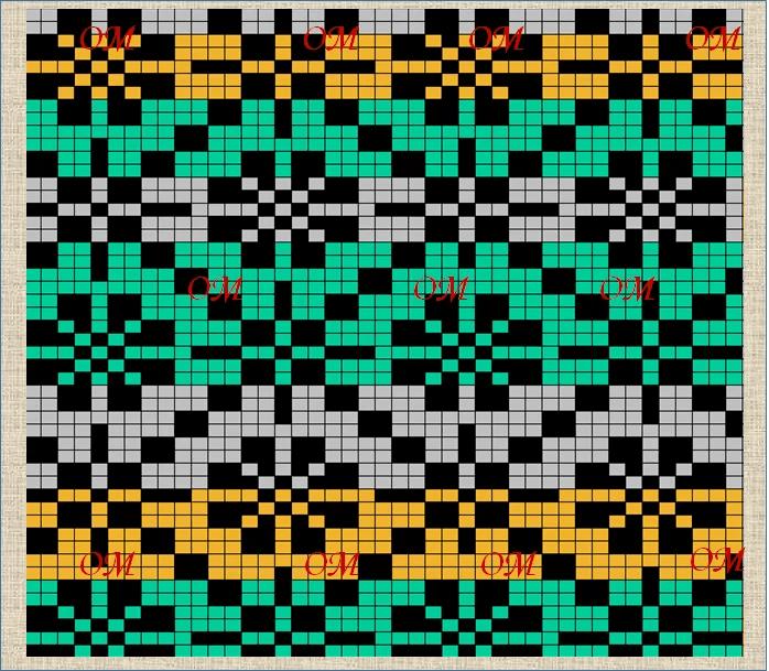 9 привлекательных моделей жаккардовых платьев-туник со схемами вязания + дополнительные жаккардовые узоры
