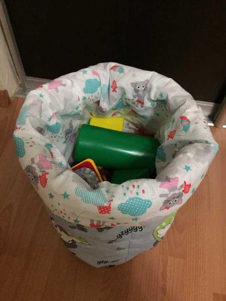 Шьем корзину для игрушек своими руками