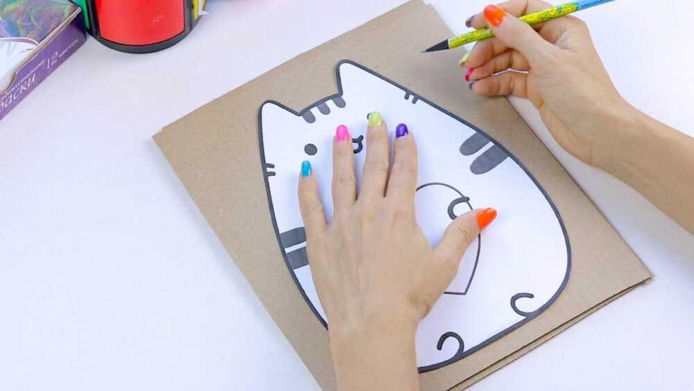 Как сделать пенал своими руками из картона | Пушин канцелярия | Поделки бэк ту скул
