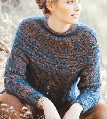 Пуловер, связанный в разных направлениях. Как это сделать