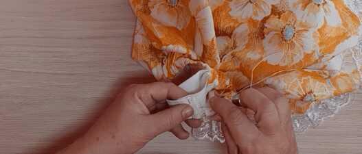 Шьем девочке юбку солнце на резинке