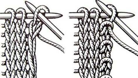 Слева - цепочка, справа - узелковый кромочный край