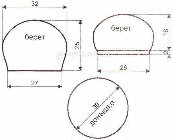 Источник: http://www.poshivchik.ru/beret-kosami-spicami.html