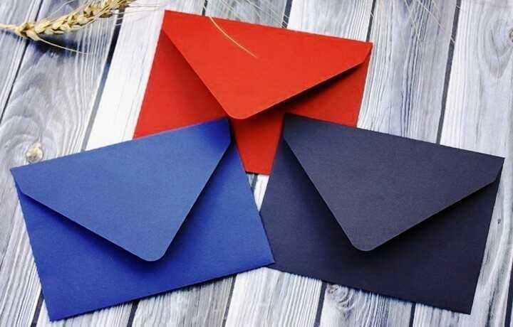 конверты из бумаги