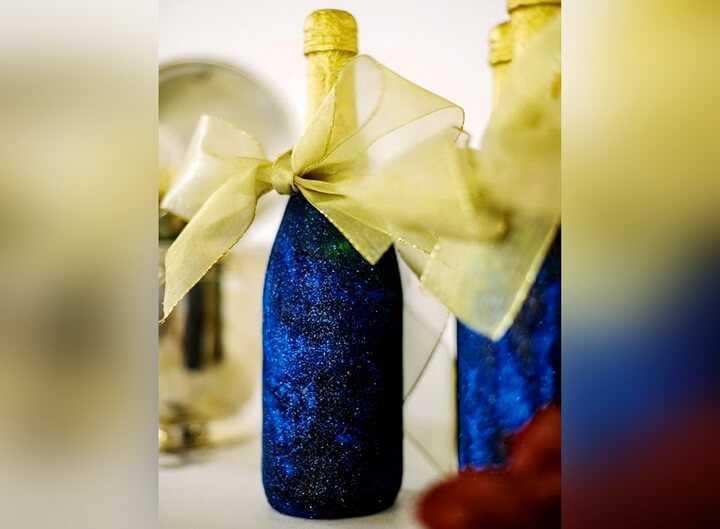 бутылка с бантом