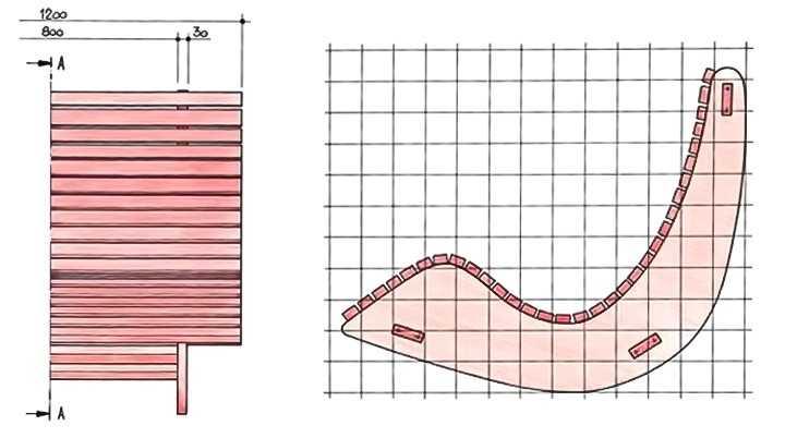 кресло качалка чертежи