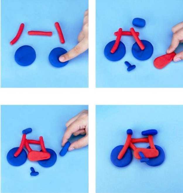 лепим велосипед
