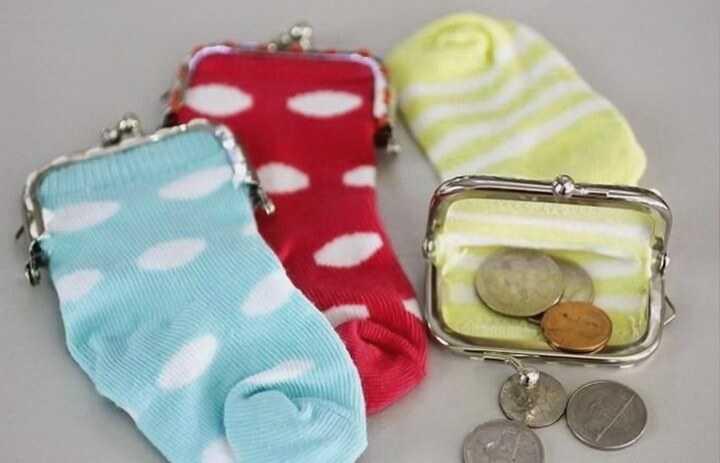 кошелек из носка