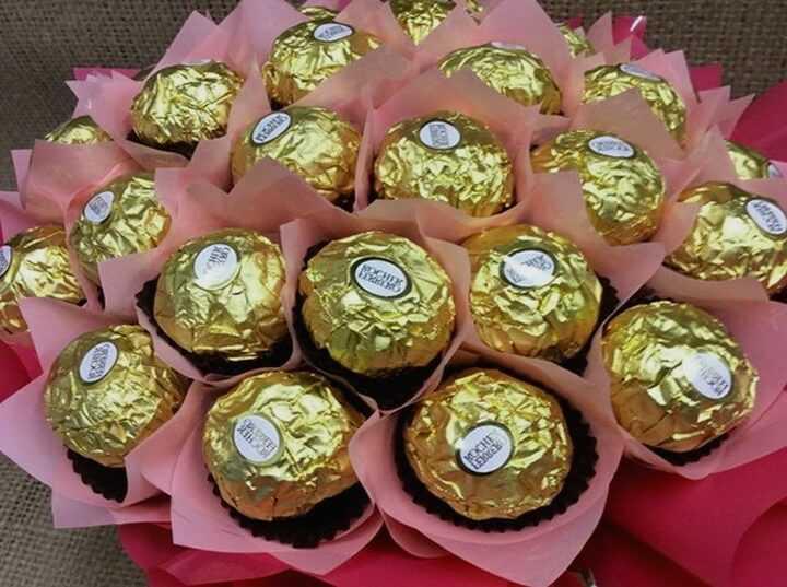 букет из конфет подарок женщине